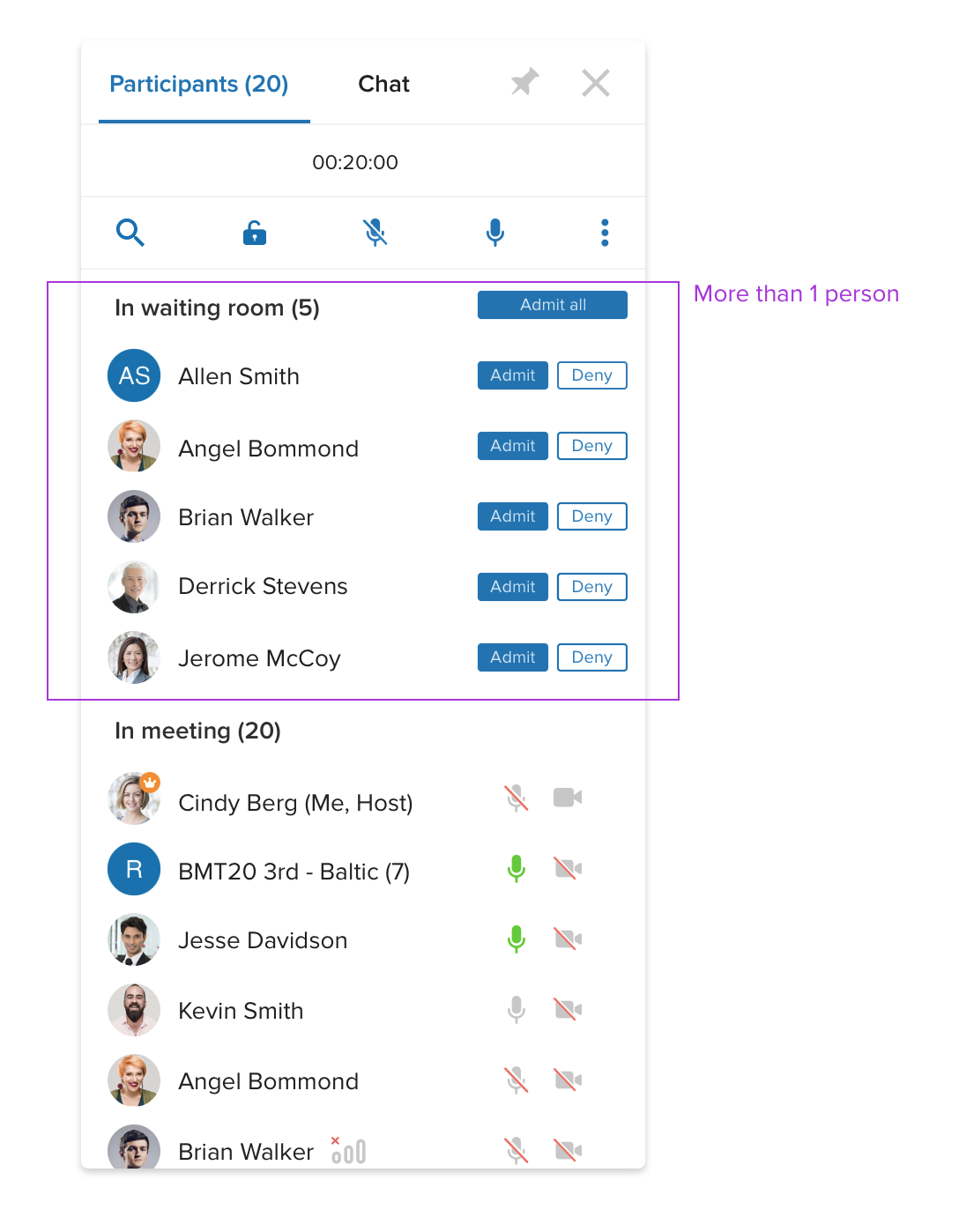 unify office by ringcentral participants