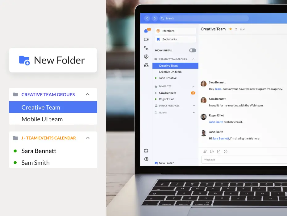Update 1 Unify Office By RingCentral: Personal folders