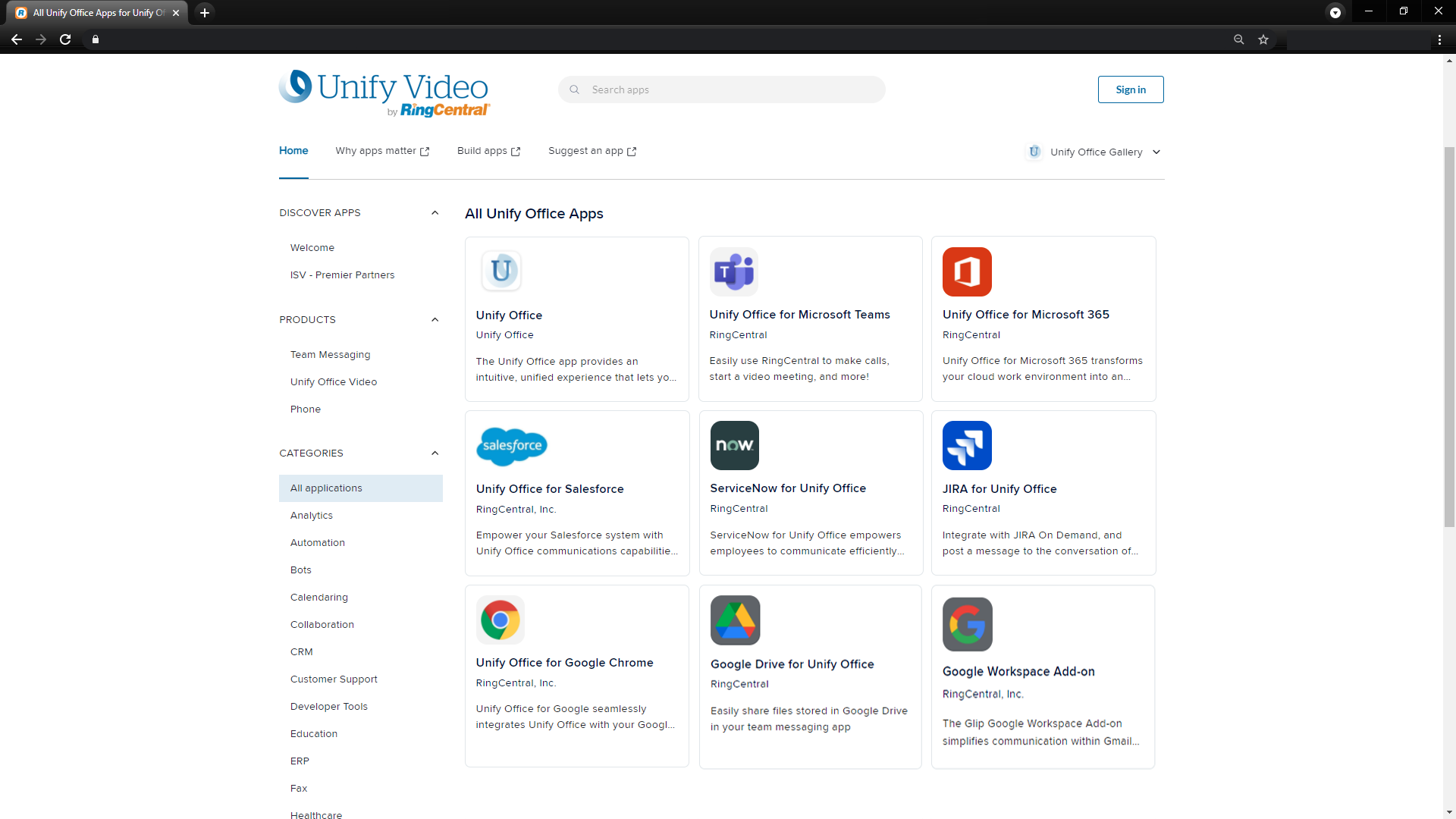 Unify video by RingCentral